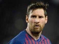 Messi hablará antes de la final de Copa del Rey. AFP
