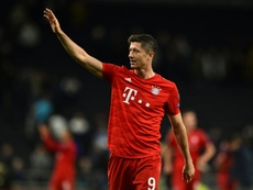 Lewandowski sigue a pleno rendimiento. AFP