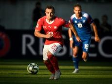 Shaqiri jugará ante España. AFP