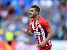 El Atlético dedicó los tres puntos al Padre Daniel, recientemente fallecido. AFP