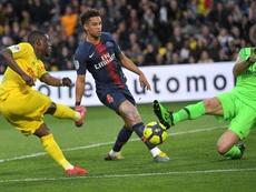 El Nantes impidió el título del PSG. AFP