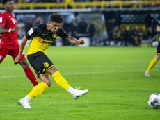 Jadon Sancho, an Englishman with European style. AFP