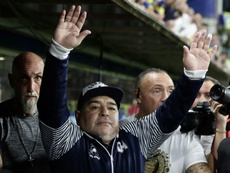 Brahian Aleman elogia Maradona. AFP