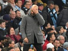 El VAR sigue castigando a Guardiola en la Champions. AFP