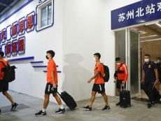 A equipe de Wuhan volta ao futebol