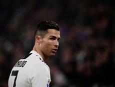 L'attaquant portugais de la Juventus Turin Cristiano Ronaldo lors d'un match de Serie A contre Frosinone, le 15 février 2019 à Turin