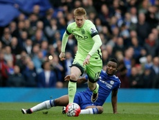 De Bruyne playing against Chelsea in 2016. AFP