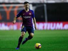 Lenglet analizó el triunfo del Barça. AFP