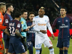 11 yellow cards were dished out when PSG and OM met on Sunday. AFP