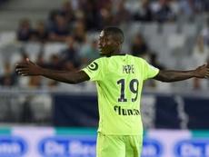 Le joueur de Lille, Nicolas Pépé. AFP