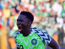 Le défenseur nigérian Kenneth Omeruo lors de la CAN. AFP