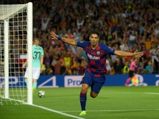 Luis Suarez could still make an end of season comeback. AFP