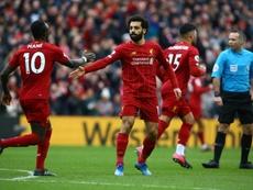 Salah superó a Luis Suárez en goles. AFP