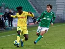 Un gol más de Moses Simon obligará al Nantes a ejercer la opción de compra. AFP