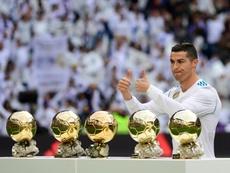 Cristiano quiere el Balón de Oro de nuevo. AFP