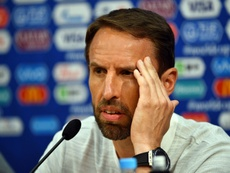 Southgate no se fue satisfecho pese al 6-1. AFP