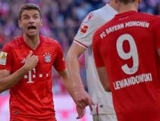 Salihamidzic descartó la salida de Müller en enero. AFP