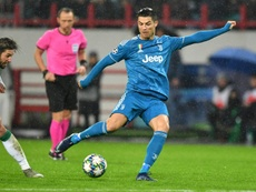 Cristiano se enfadó con Sarri por cambiarle. AFP