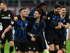 L'Inter remporte le derby et retrouve le podium. AFP