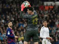 Courtois praised Iker Casillas. AFP