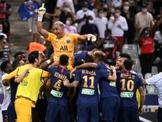El PSG ganó la Copa de la Liga. AFP