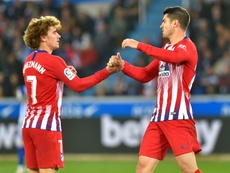 Morata seems to have won over those at Atlético. AFP