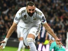Benzema, quatrième meilleur buteur de Ligue des champions. AFP