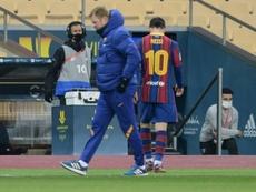 Messi perderá dois jogos com o Barça. AFP