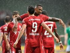 Lewandowski marcou o gol do título do Bayern de Munique. AFP