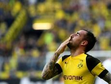 Alcácer, gran triunfador de la semana en la Bundesliga. AFP