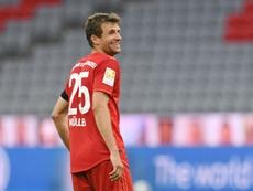 Müller muda de companheiro ideal. AFP