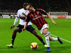 Laxalt could leave AC Milan. AFP