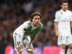 Modric admitió que el Madrid está tocado por el varapalo de la Champions. AFP