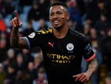 Réactions de Sterling et Jesus après la victoire face au Real. AFP