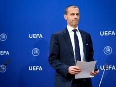 Ceferin quiere mantener los calendarios de la Eurocopa. AFP