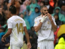 Benzema and Casemiro were decisive in Real Madrid's 3-2 victory over Levante. AFP