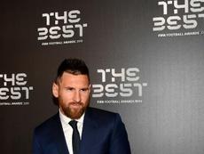 Leo Messi se emocionó al ganar su primer 'The Best'. AFP