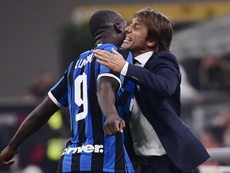 Conte says he will not force Lukaku's injury for the Champions League game. AFP