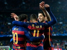 The Barca squad would welcome Neymar back with open arms. AFP