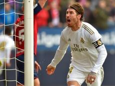 Sergio Ramos foi alvo de insultos na partida contra o Osasuna. AFP