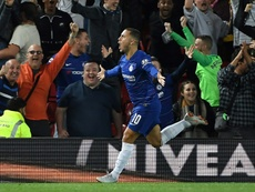 Hazard's winner against Liverpool astonished fans and the media. AFP