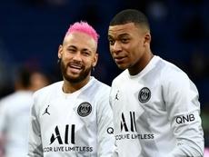 O PSG com Cavani, mas sem Mbappé e Neymar. AFP