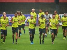 Flamengo foi multado por impedir que fiscais entrassem no CT Ninho do Urubu. AFP/Arquivo