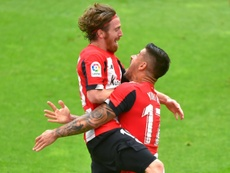 Muniain dejó muy buenas sensaciones ante el Atlético. AFP