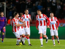 Pavkov was the hero for Red Star Belgrade against Liverpool. AFP