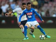Callejón écarte publiquement un départ du Napoli. AFP