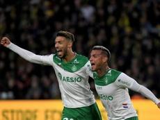 Trauco y Bouanga pinchan al Nantes y aúpan al Saint-Étienne. AFP