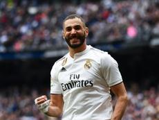 A mensagem de Benzema ao madridismo para a próxima temporada. AFP
