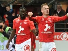 Les compos probables du match de Ligue 1 entre Brest et Strasbourg. AFP