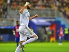 He scored again against Eibar. AFP